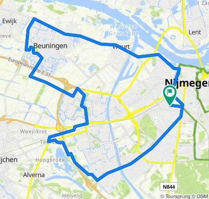 Rondje Nijmegen- Beuningen.
