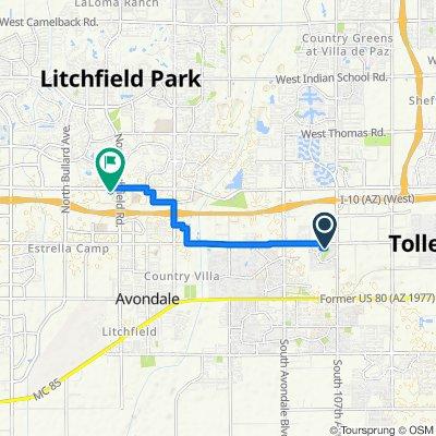 10829 W Monroe St, Avondale to 1450 N Litchfield Rd, Goodyear