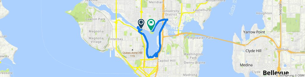 Moderate route in Seattle
