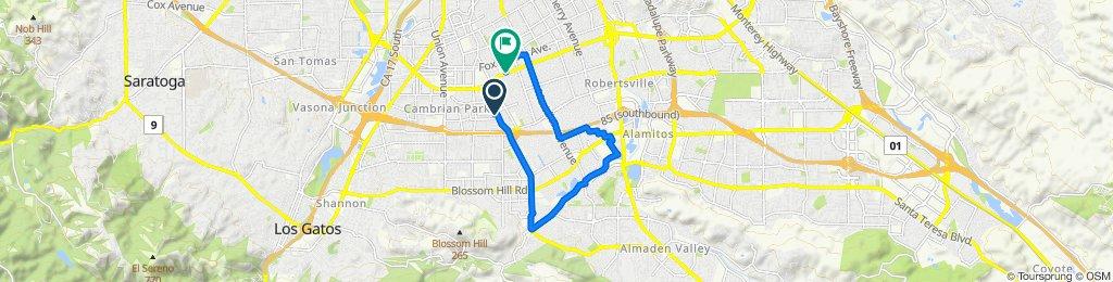 Restful route in San Jose