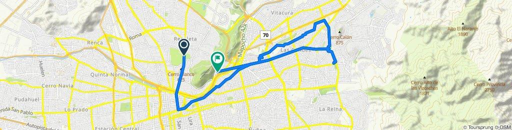 De Avenida Recoleta 208 a Lo Contador 386, Providencia