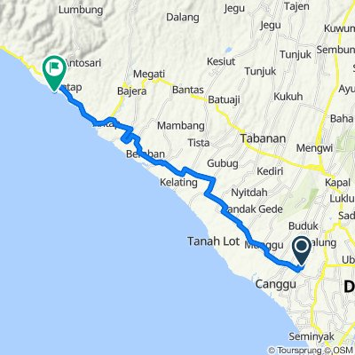 Route to Jalan Pantai Balian, Tabanan