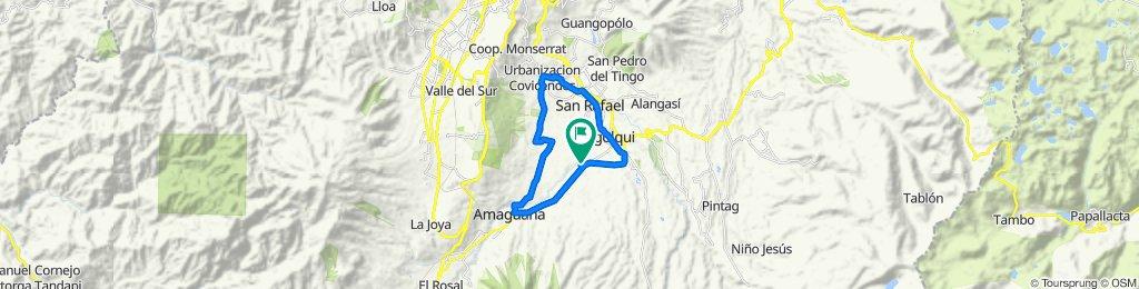 Ruta deportiva en Rumiñahui