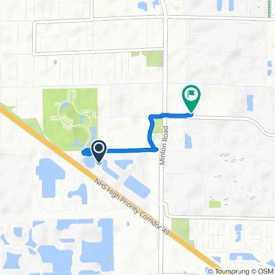 3604 Burdock Ave, West Melbourne to 2700 Wingate Blvd, West Melbourne