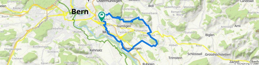 Wittikofen - Dentenberg - Vielbringen - Allmendingen - Muri - Wittikofen