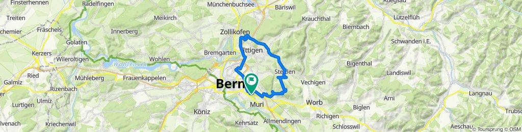 Wittikofen - Dentenberg - Flugbrunnen - Wankdorf - Wittikofen