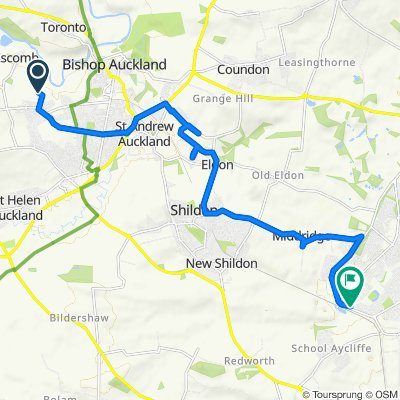 Restful route in Bishop Auckland