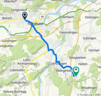 Bielstrasse 89, Solothurn to Florastrasse 7, Recherswil