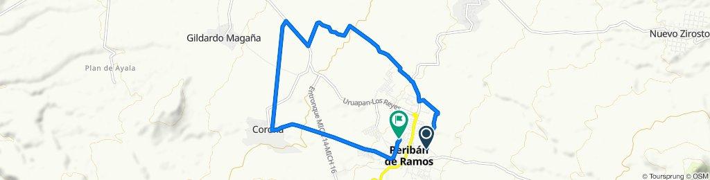 Calle Francisco Villa 111, Peribán de Ramos to Calle Anáhuac 267, Peribán de Ramos