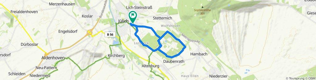 Einfache Fahrt in Jülich