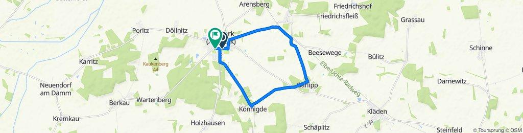 Kirchhofstraße 10, Bismark (Altmark) to Straße der Einheit 17, Bismark (Altmark)