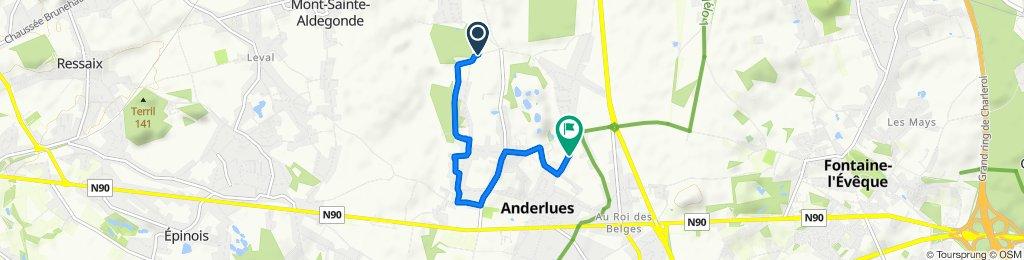 Chemin de Warimez 1–15, Anderlues to Rue Houdoux 28, Anderlues