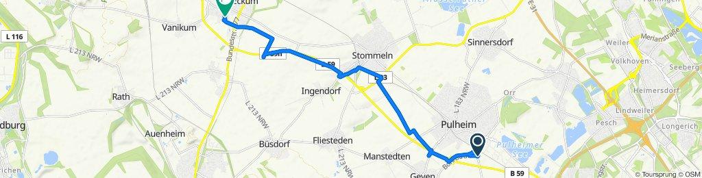 Zum Schwefelberg, Pulheim to Fritz-Walter-Weg 6, Rommerskirchen