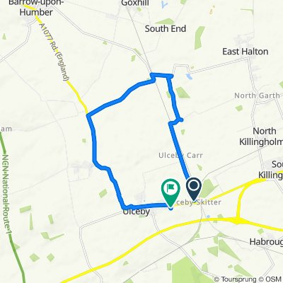 Braefoot, Carr Lane, Ulceby to 8 Gower Close, Ulceby