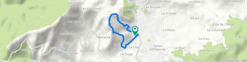 Le Plan de la Tour - zu Fuß und bergauf