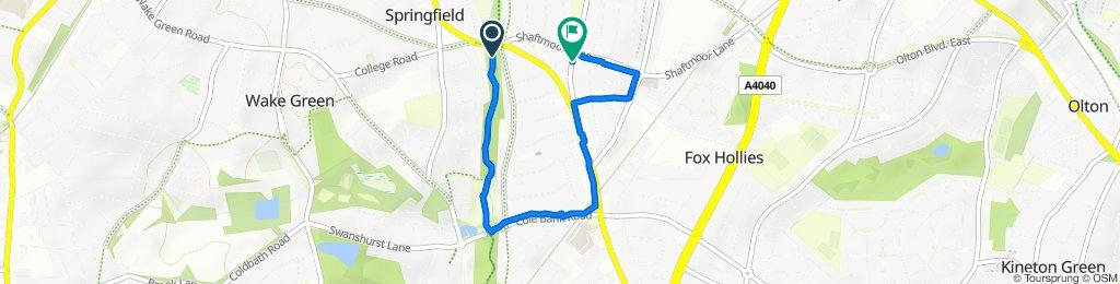 Sarehole Road 4 to Reddings Lane 541