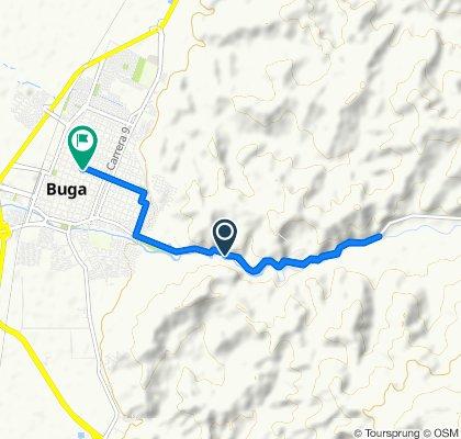 Ruta constante en Buga