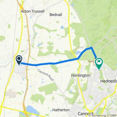 Kingsmead, Francis Green Lane, Stafford to 14 Rosehill, Cannock