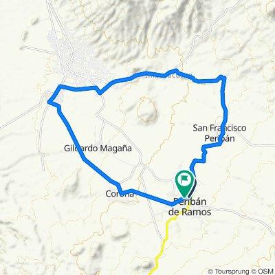 Prolongación Emiliano Zapata 4, Peribán de Ramos to Calle Anáhuac 267, Peribán de Ramos