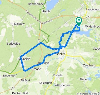 Langsame Fahrt in Michendorf