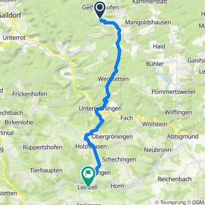 Wurzelbühl 1–2, Bühlerzell to Danjoutin Platz, Leinzell
