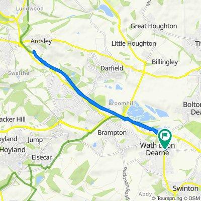 1 Strathmore Grove, Rotherham to 1 Strathmore Grove, Rotherham