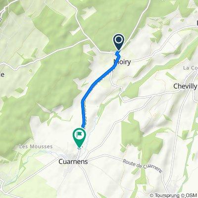 Itinéraire modéré en Cuarnens