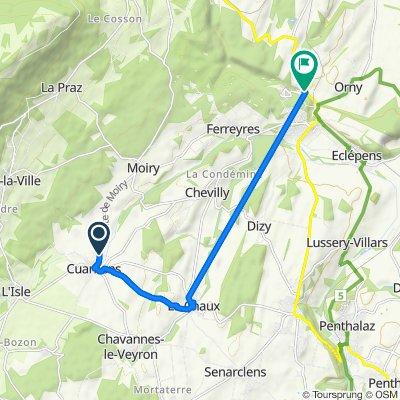 Itinéraire facile en Pompaples