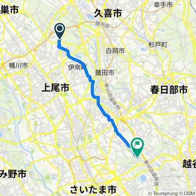 1150-14, Takamushi, Hasuda-Shi to 908-1, Nakanoda, Midori-Ku, Saitama-Shi