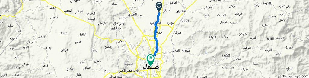 Route to Gamal Abdul Nasser St, Sana'a