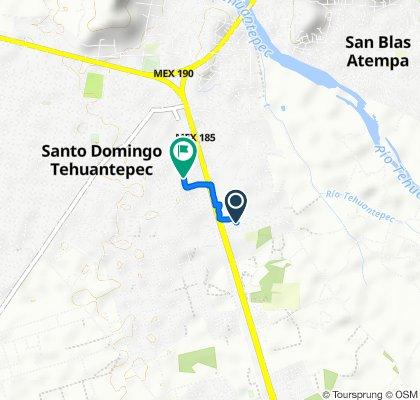 De Calle Naranjos 112, Tehuantepec a Calle Río Atoyac 14, Tehuantepec