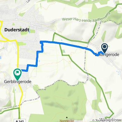 Neuer Weg 6, Ecklingerode to Gerblingeröder Straße 46, Duderstadt