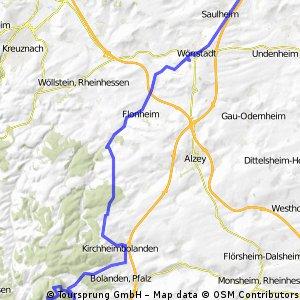 Von Nieder-Olm zum Donnersberg