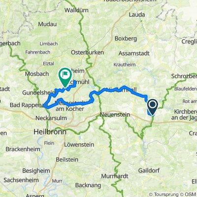 3. Tag Kocher-Rems-Radweg