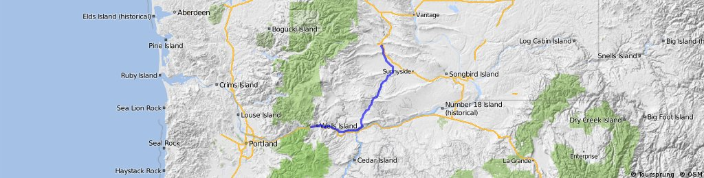 Yakima to Hood River