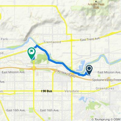 Route to 12040 E Marietta Ave, Spokane Valley