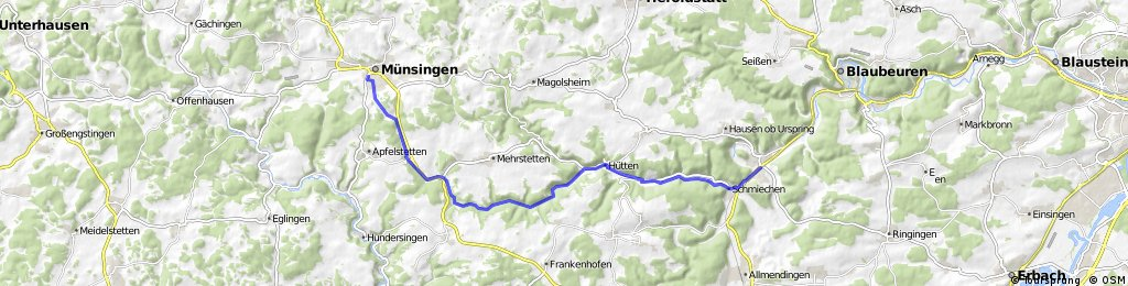 Entlang der Schwäbischen Alb-Bahn 2. Teil Münsingen -> Schelklingen