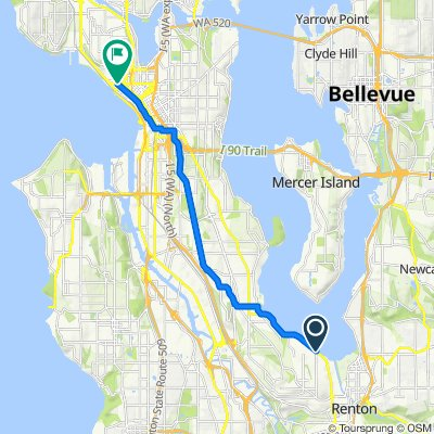 10931 Rainier Ave S, Seattle to 180 Denny Way, Seattle