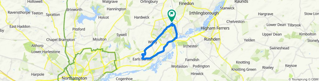 40 Osprey Lane, Wellingborough to 29 Osprey Lane, Wellingborough