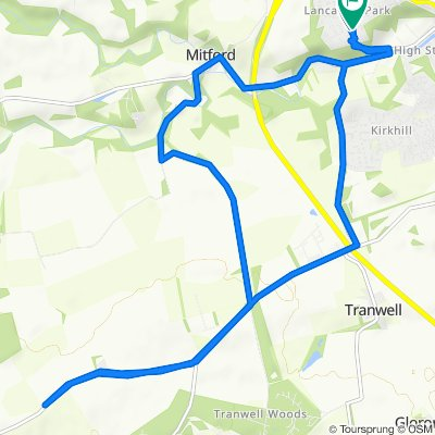 Moderate route in Morpeth