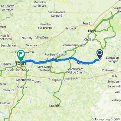 Route im Schneckentempo in Tours