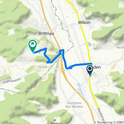 Entspannende Route in Reiden