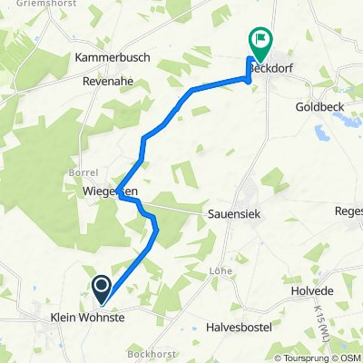 Knackige Fahrt in Beckdorf