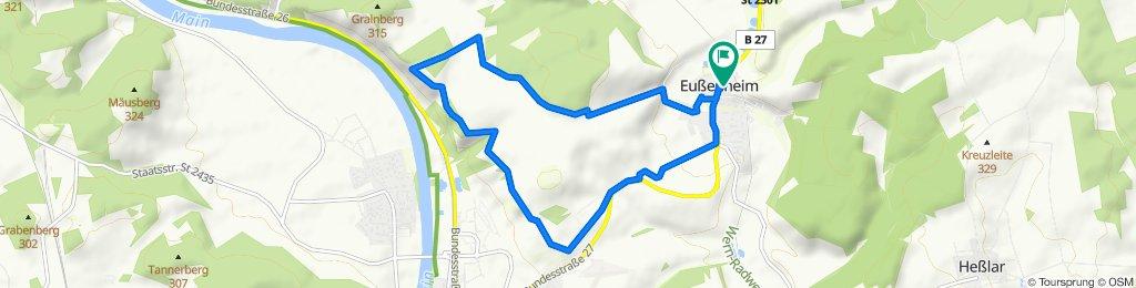 Wanderweg Nr. 02 Eußenheim Zum Edelweis Nach der Wanderkarte Eußenheim 2016