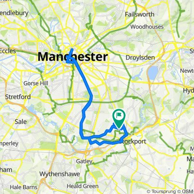 Heaton Moor to Manchester and back via the mersey