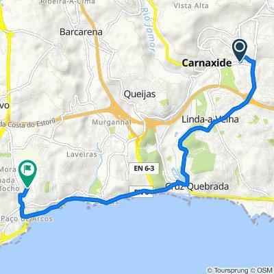 Rua João das Regras 3A, Carnaxide to Rua Instituto Conde de Agrolongo 18, Paço de Arcos