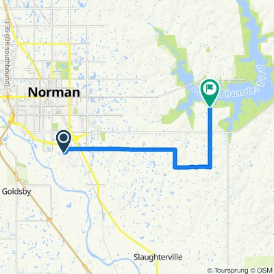 808 Golden Eagle Dr, Norman to 700 108th Ave SE, Norman