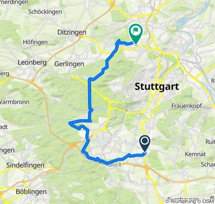 Entspannende Route in Stuttgart