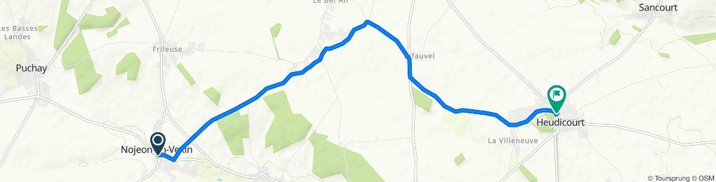 Itinéraire modéré en Heudicourt