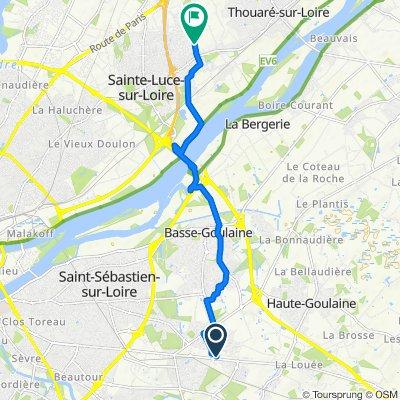8 Rue de l'Atlantique, Basse-Goulaine to 52–64 Rue du Moulin Cassé, Sainte-Luce-sur-Loire